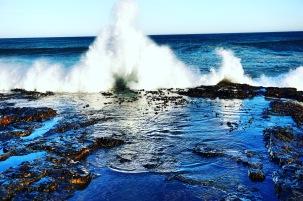 Arriving wave near Beach Rd.