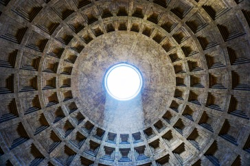 Taken from underneath the famous hole in the roof of the Pantheon.