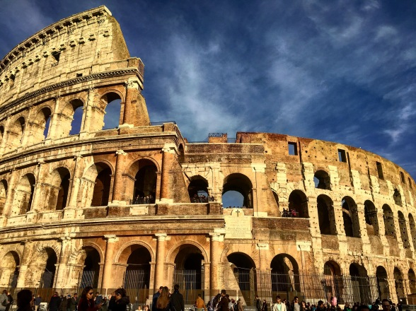 The Colosseum from the front entrance