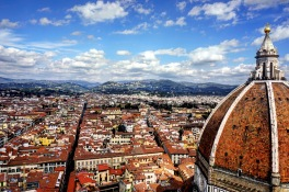 Florence from the Bell Tower of Cattedrale di Santa Maria del Fiore.